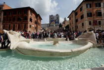La Barcaccia fountain at Spanish Steps