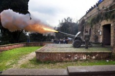 Gianicolo noon Rome miday noon fire cannon